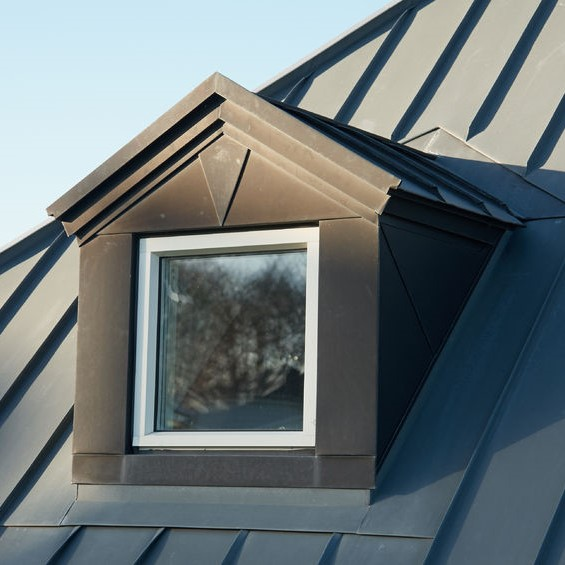 metal roofing with a dormer