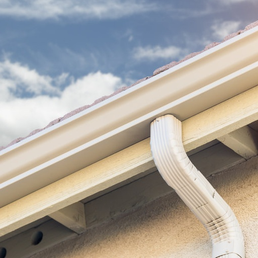 gutter along roof