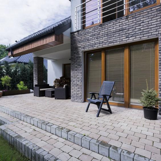concrete brick deck