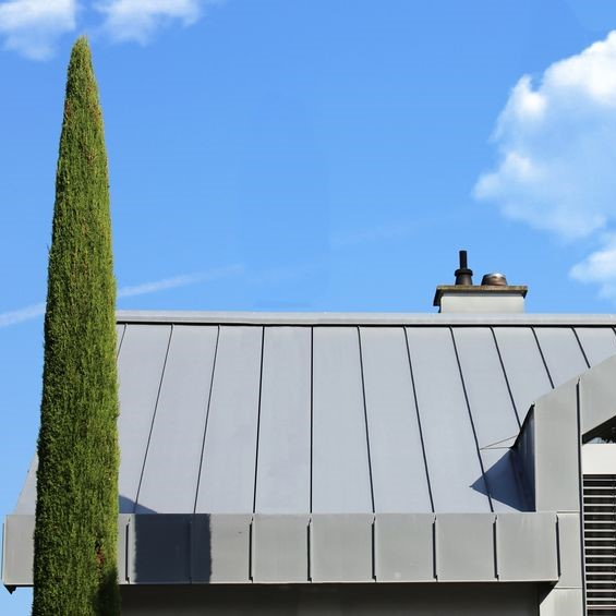 metal roof on a building