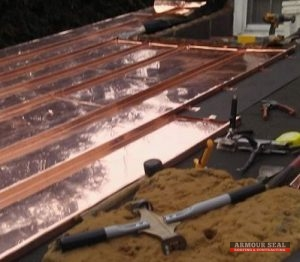 Copper Roofing Being Installed