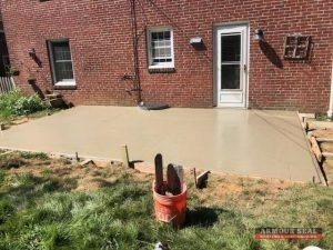 Freshly Poured Concrete On Patio