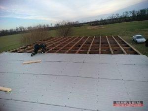 Metal Industrial Roofing Being Installed