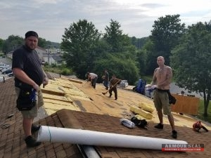 Roofers Installing Shingle Roofing