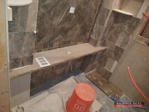 Tile Going in Shower
